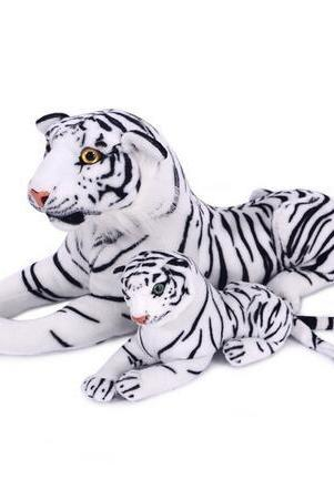 white 80cm Simulation plush toys tiger doll hair Tigger Plush toy simulation tiger