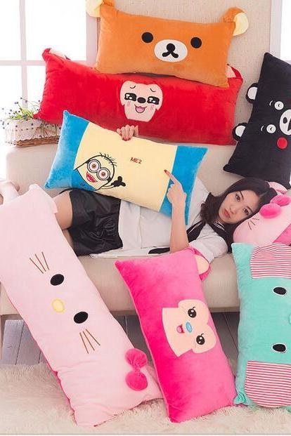 pink Soft and comfortable cartoon animal series lumbar cushion lumbar support multi-tiger 60cm*35cm