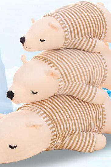 110cm Beige, polar bear Papa Bear plush toy doll doll pillow queen creative child dolls