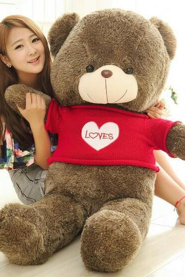 120cm Sweater baby bear plush teddy bear doll doll toy factory direct wholesale color optional