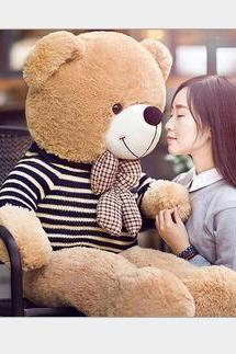 Large plush toys 1.6 m genuine teddy bear doll bear hug sweater dress girl gift