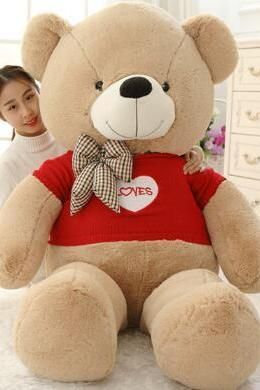 Large plush toy doll cute teddy bear doll Valentine's Day gift to send girls 100cm