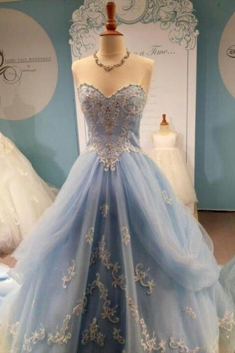 2016 Appliques and Lace Prom Dresses,A-Line Floor-Length Prom Dresses, Sweetheart Prom Dresses Prom Dresses, Charming Zipper Evening Dresses,
