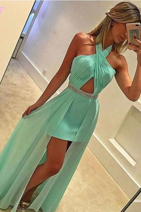 Green Apple 2 In 1 Prom Dresses Long Party Dress